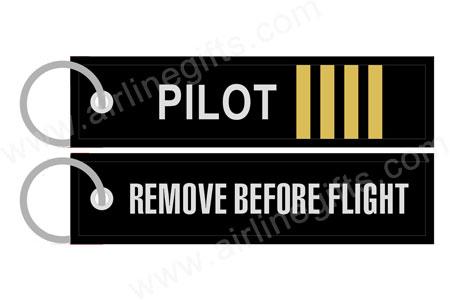 66817338399 Key Ring - Remove Before Flight   Pilot Stripes
